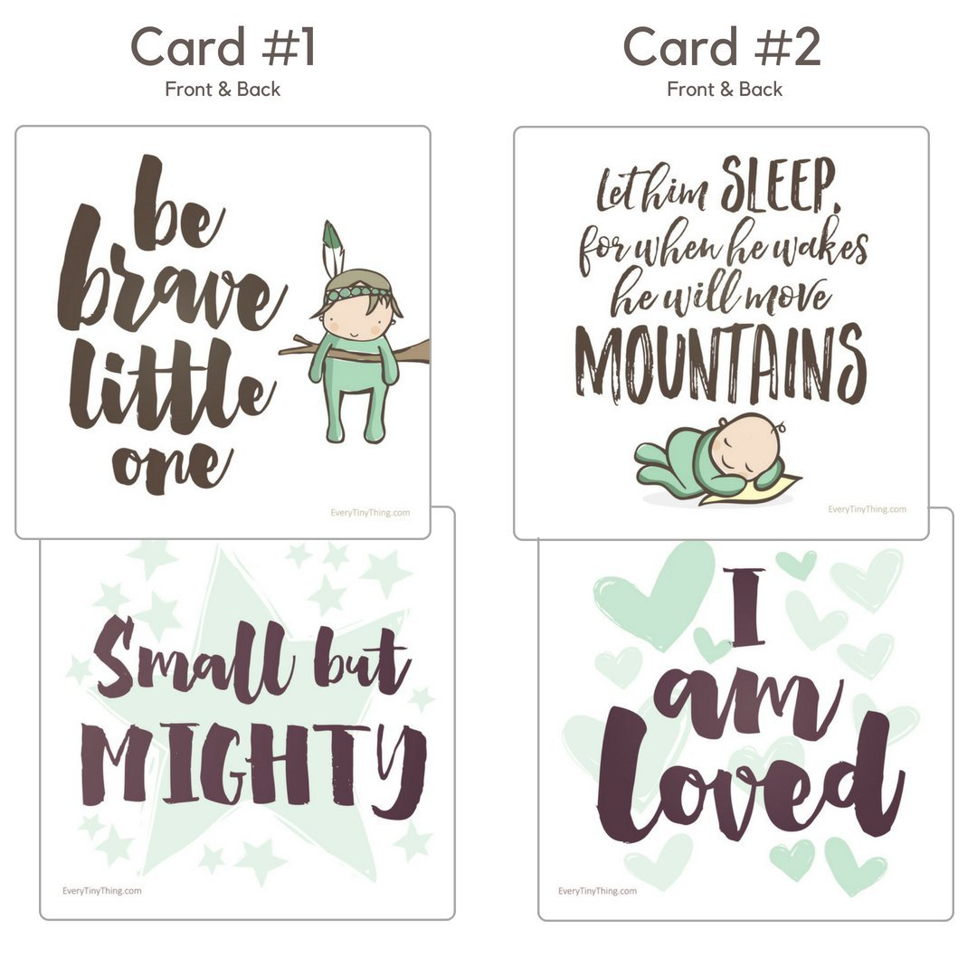 NICU Crib Art from Every Tiny Thing - Decorate Your Baby's NICU Space with Adorable Prints - Brave Boys by Every Tiny Thing (Image #2)