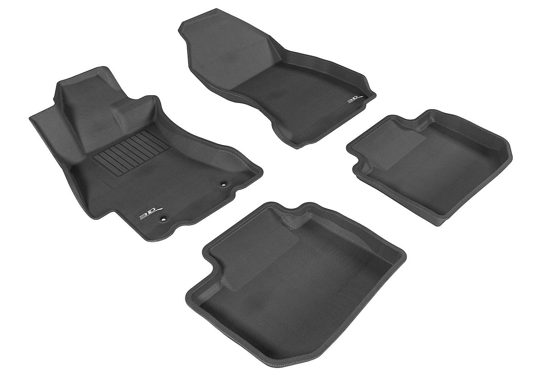 Amazon com 3d maxpider complete set custom fit all weather floor mat for select subaru xv crosstrek models kagu rubber black automotive