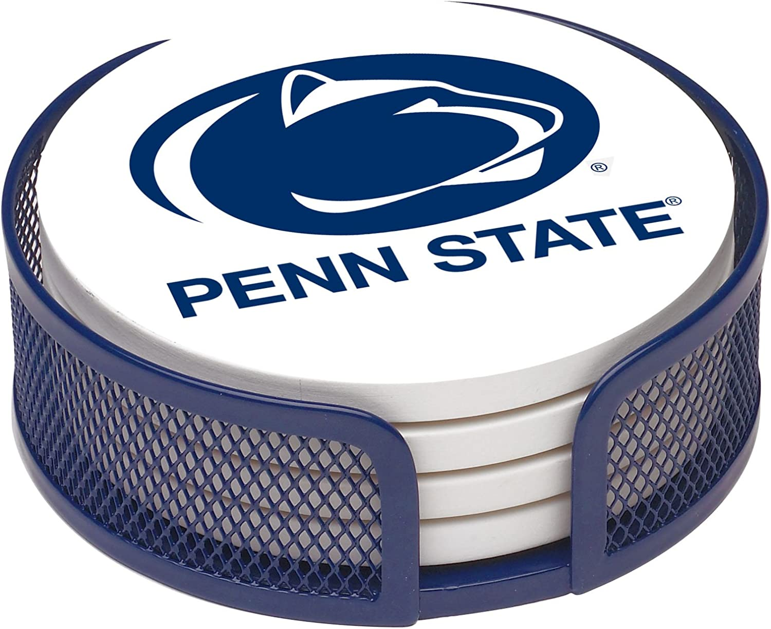 Thirstystone Stoneware Drink Coaster Set with Holder, Penn State University