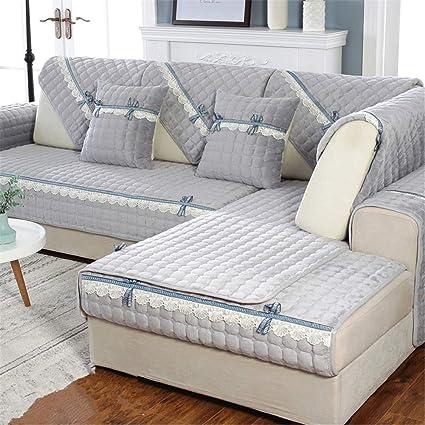 Amazon.com: Winter Thicken Plush Sofa Cushioning,European ...