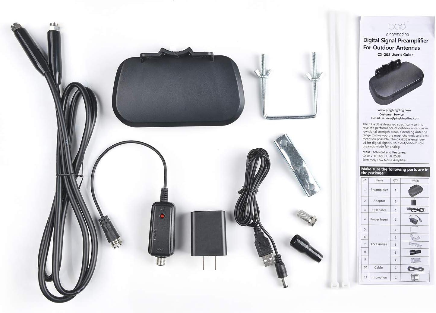 HD Digital VHF UHF Amplifier TV Antenna Amplifier Signal Booster pingbingding HDTV Preamplifier