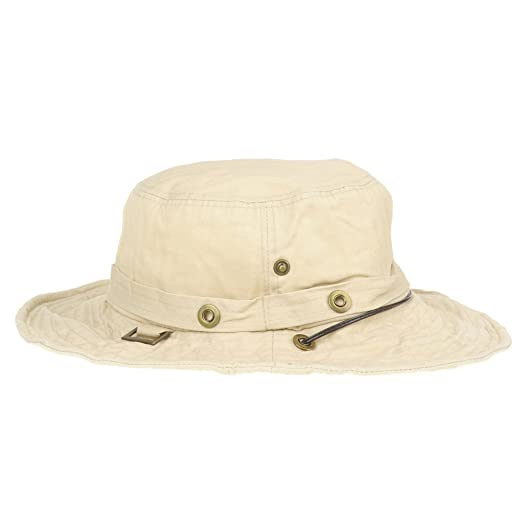0b11f0edffc WITHMOONS Cappelli da Sole Boonie Bush Hats Wide Brim Denim Camouflage Side  Snap KR8190 (Ivory)  Amazon.it  Abbigliamento
