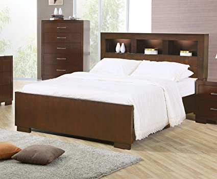 Coaster Jessica Collection 200719QSET 5 PC Bedroom Set With Queen Size Bed  + Dresser + Mirror