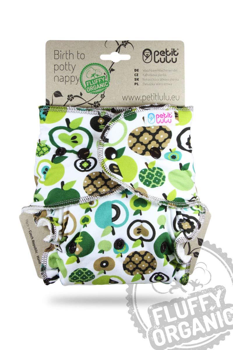 7-16 kg Bambus nat/ürliche wiederverwendbare Stoffwindeln Druckkn/öpfe Petit Lulu Maxi NachtWindel Fluffy Organic /Äpfel H/öschenwindel Ohne Polyester