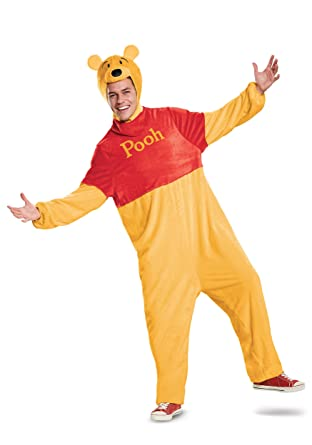 9aa5397d726a Amazon.com  Disguise Fun Costumes Winnie The Pooh Bear Deluxe Adult Costume   Clothing