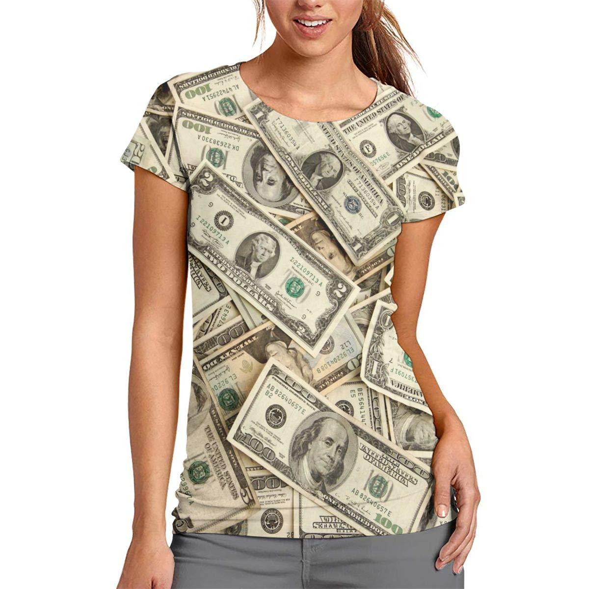 a5a6185a5 BOSYYSTRT US Dollar 100 Women Short Sleeve Baseball Tee Shirts Sports  Raglan T-Shirt at Amazon Women's Clothing store: