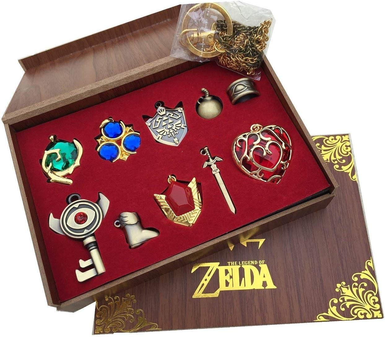 Caja de madera con pendientes o llaveros de The Legend of Zelda ...