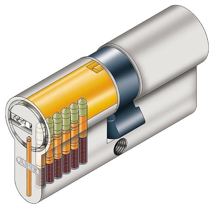 Abus 27072 - Cilindro de la puerta con llave, 40x50 mm, plateado: Amazon.es: Bricolaje y herramientas