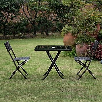 YXX- Pequeño Cuadrado Plegable Mesa de Picnic y sillas ...