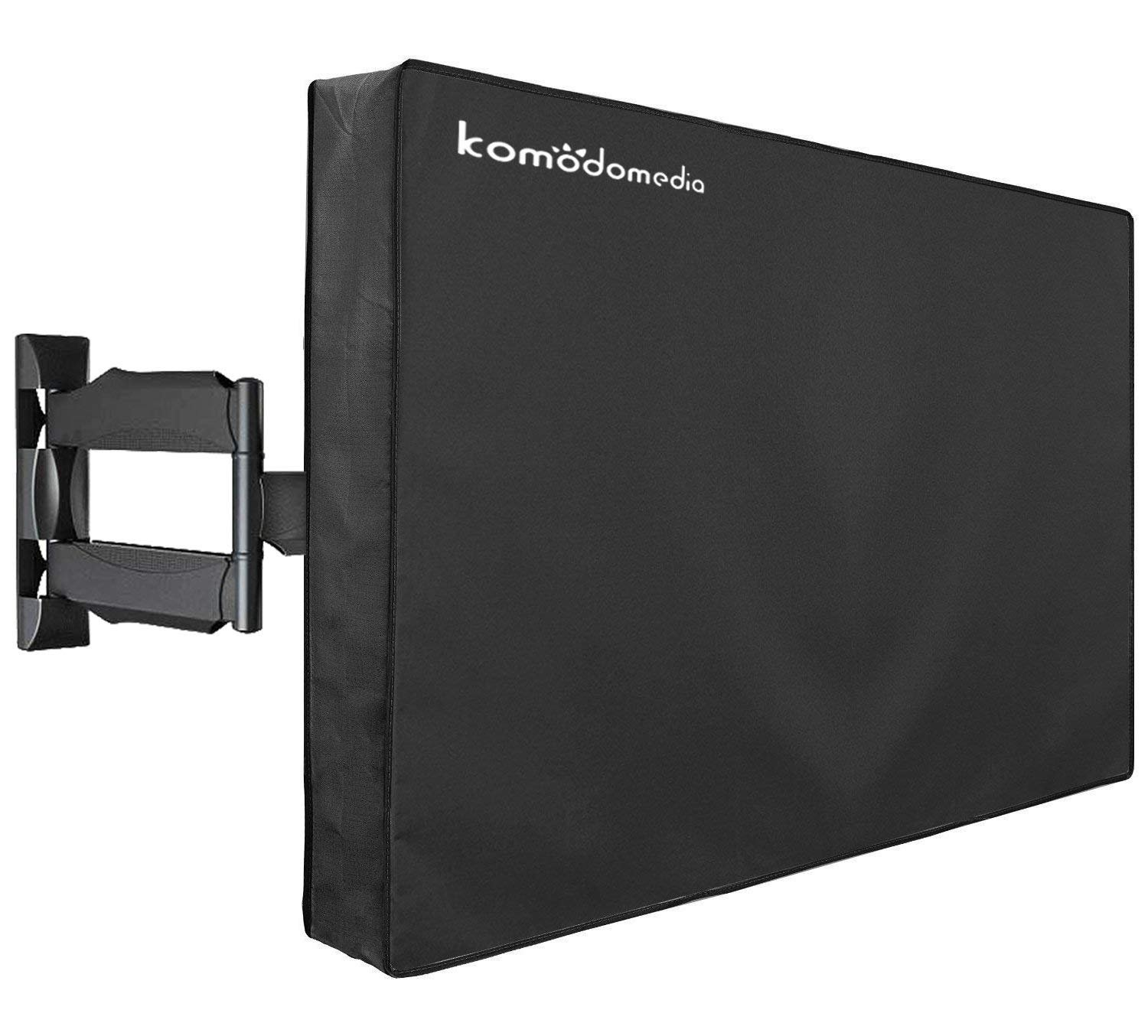 """Outdoor TV Cover 40"""" – 43"""" - Waterproof TV Enclosure Offers 360-Degree Coverage, Accommodates Single Mounts and Stands - Weatherproof, Dust-Proof, UV Protection - Heavy-Duty, Premium Quality by Komodomedia"""