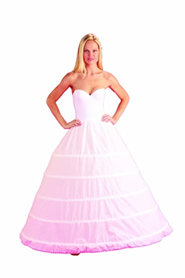 82f4219acab8c 5 Bone Hoop Skirt Bridal Renaissance Civil War Slip CH150DS At Amazon  Womens Clothing Store Costume