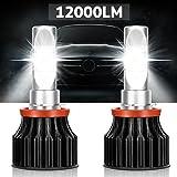 LED Headlight Bulbs -12000 Lumen,Kakit H11(H8 H9) CREE XHP50 6000K Cool White Safety Beam Pattern,3-Year Replacement Warranty