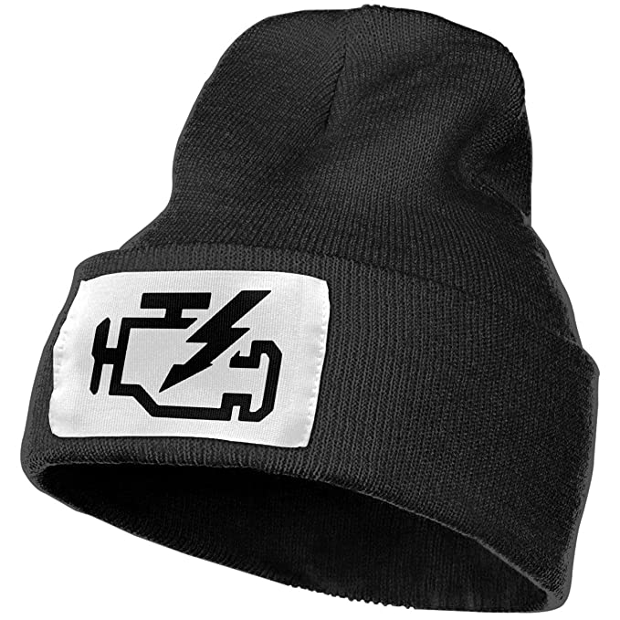 953cde1bf2f Amazon.com  Check Engine Light Unisex Adjustable Knit Hat Cap Skull Beanie  Beanie Hat  Clothing