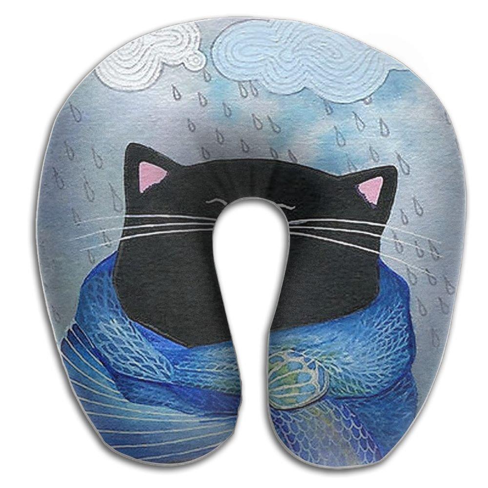 The Cat Holding the Coffee Cozy首枕旅行枕ネックサポート平面枕首の枕Sleeping B076MH1FFH