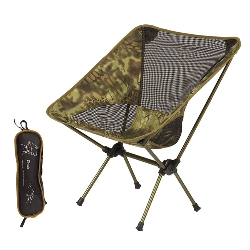 LDFN Tragbarer Kampierender Stuhl Multifunktionaler Ultraleichter Stuhl Strand Fischen Oxford-Tuch und Aluminiumstentstuhl,D