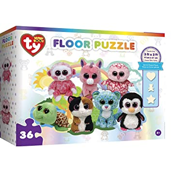 MasterPieces Ty Beanie Boos Fun at the Park - 36 Piece Kids Shaped Floor Puzzle