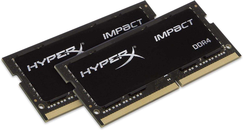 HyperX Impact 64GB 2400MHz DDR4 CL15 SODIMM (Kit of 2) Laptop Memory HX424S15IBK2/64, 64GB Kit (2x32GB)