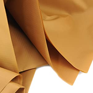 """Rose Flavor Nylon Ribstop Waterproof Fabric 1.7OZ 70D 58"""" by 1 Yard(Light Brown)"""