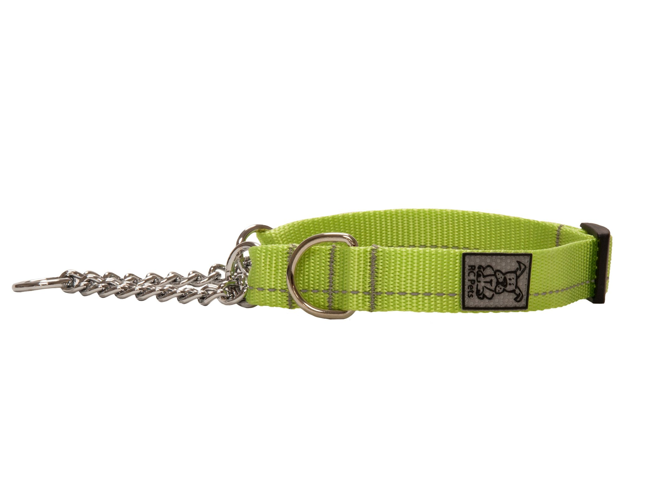 RC Pet Products 5/8 Inch Primary Collection Training Martingale Dog Collar, XSmall, Lime