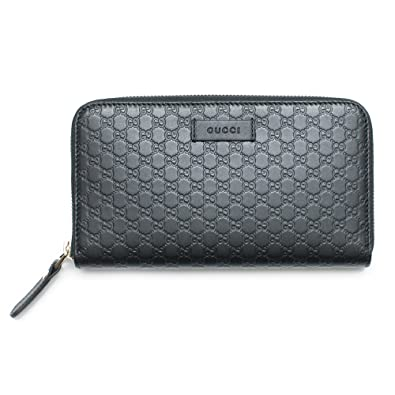 02d6caa4832497 Amazon.com: Gucci Wallet Microguccissima Leather Continental Zip Around  Wallet Black Italy New: Shoes