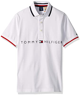a35ad547 Tommy Hilfiger Men's Adaptive Polo Shirt with Magnetic Buttons Custom Fit  at Amazon Men's Clothing store: