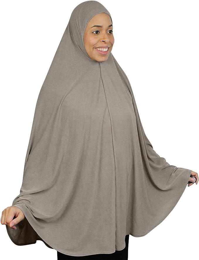 2 St/ück elegant extra lang Milch Faser islamisches Gebet leicht einfarbig Muslimischer arabischer Hijab Dabixx Damen Hijab