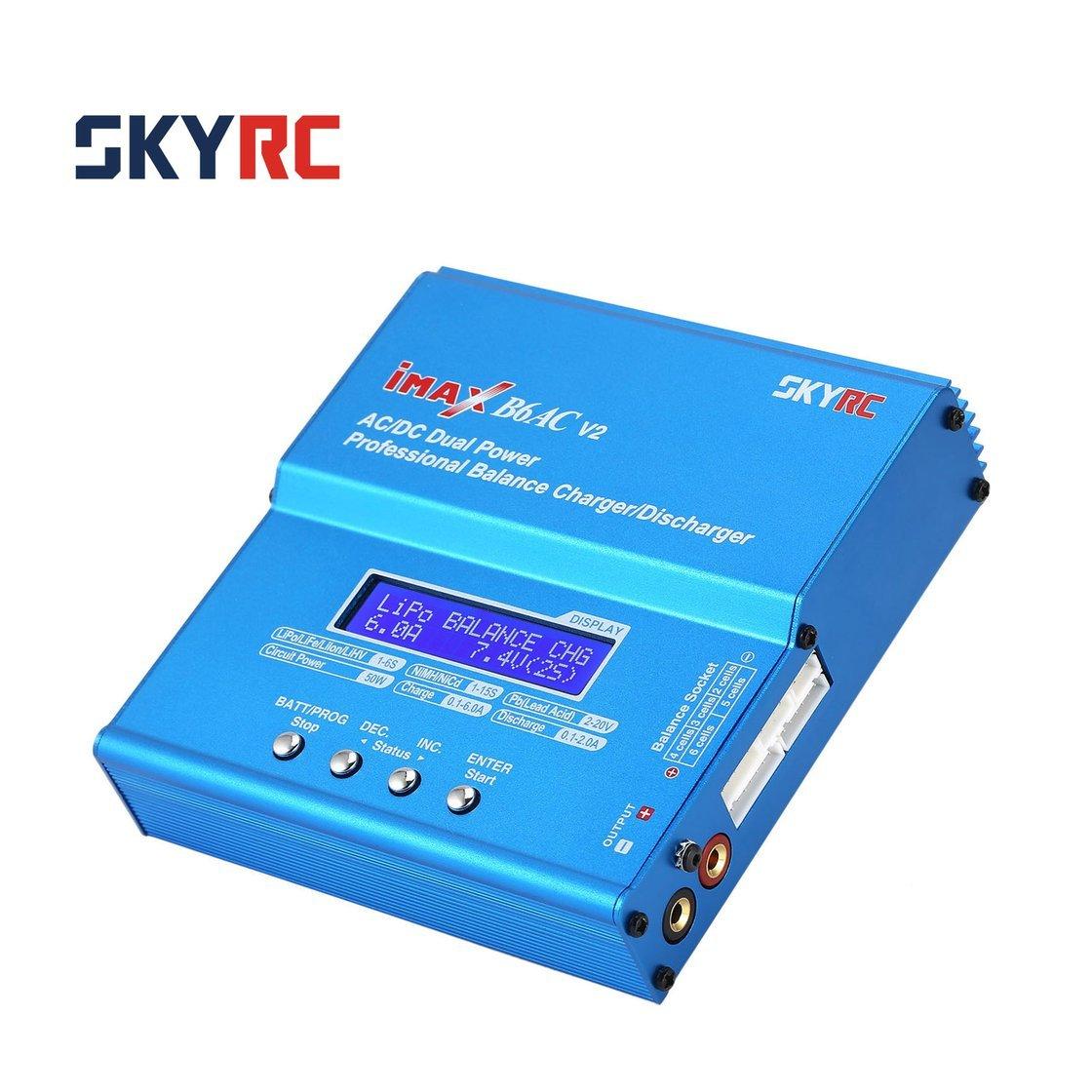 Hermosairis SKYRC iMAX B6AC V2 6A 50 50 50 Watt AC / DC Lipo NiMH Pb Balance Ladegerät / Entlader mit Adapter LCD Display für RC Auto Drone Hubschrauber 93b339