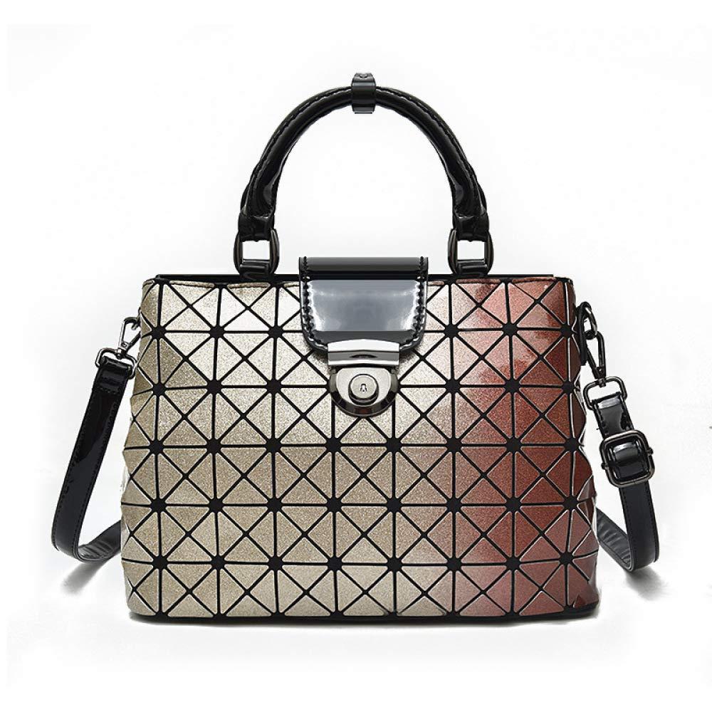 LAFE Damen Tasche Tasche Tasche Nano-synthetisches Materialpaket Geometrisch Mattiertes Rhombisches Paket, Diagonal Gefaltet 43d282