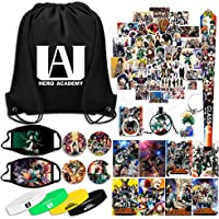 My Hero Academia Gift Sets, Including Drawstring Bag, Face Masks, Button Pins, Posters, Cute Stickers, Bracelets…