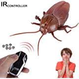 Giveme5 Upgraded RC Cockroach Toy, Infrared Remote Control Mock Fake Giant Cockroach RC Toy Model Prank Insects Joke…