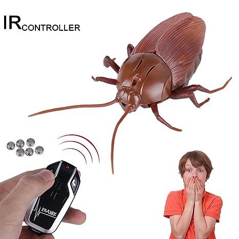 MYCreator Juguete Realista RC con Mando a Distancia por Infrarrojos para incitar a los Insectos,