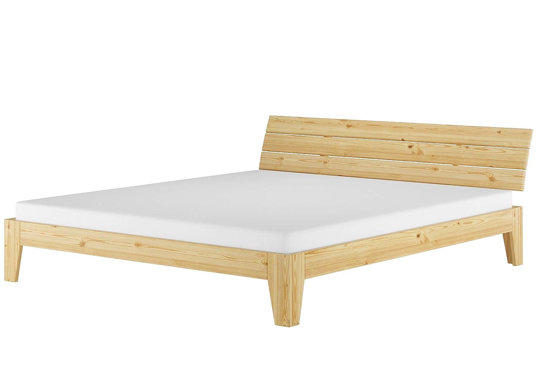 Erst-Holz® Doppelbett mit Durchgehender Matratze 180x200 Ehebett Massivholz Kieferbett 60.62-18 M