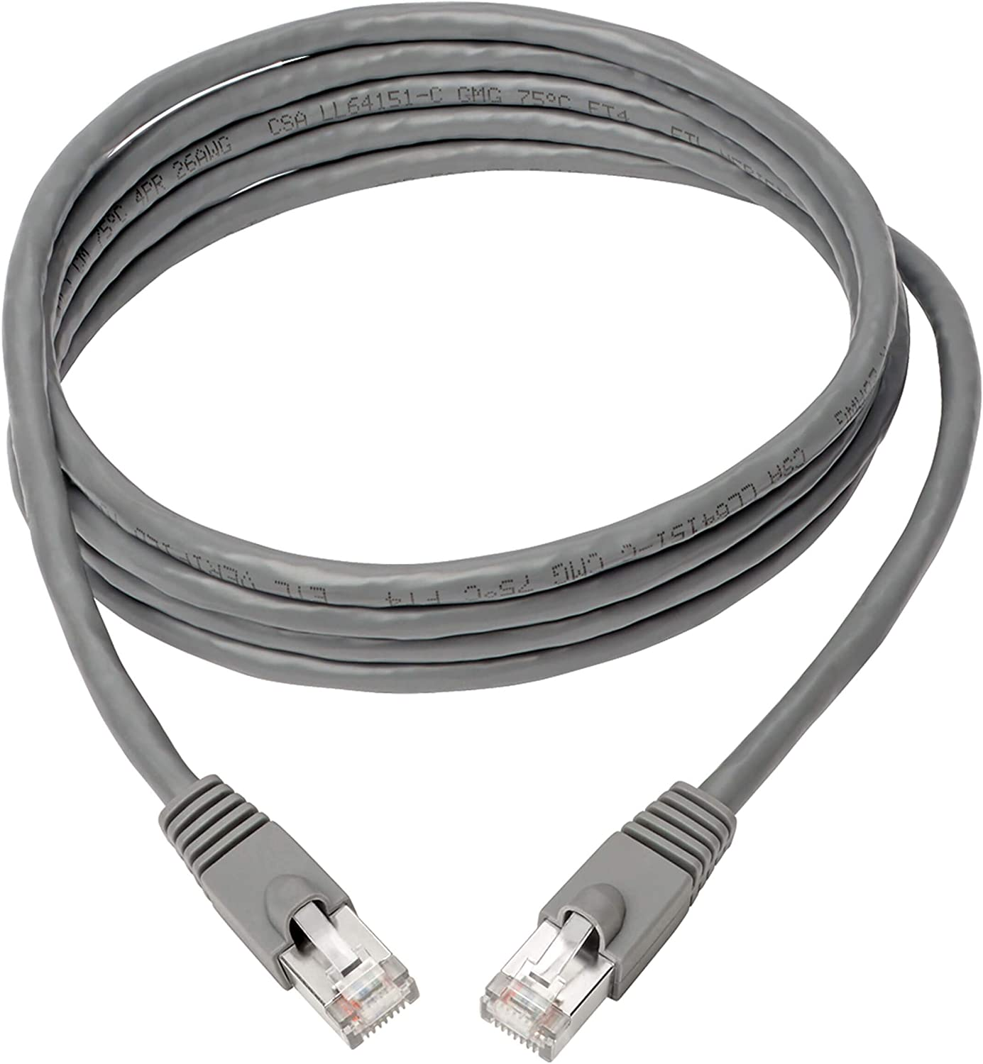 Aqua M//M Shielded Cat6a Cable N262-025-AQ Tripp Lite Cat6a Ethernet Cable STP Network Patch Cable PoE 25 ft. 10 Gbps