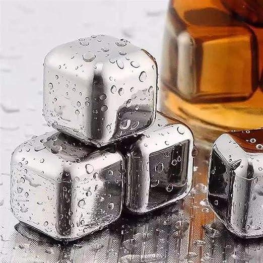 Compra LYHONG 10 Unids/Lote Acero Inoxidable Whisky Cubitos De ...