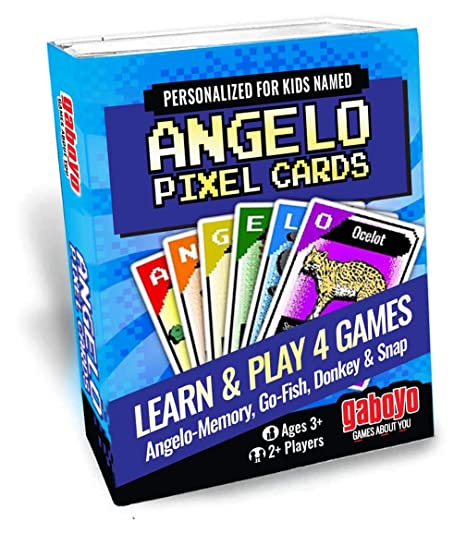 Amazoncom Cards For Kids Named Angelo Pixel Animal Art