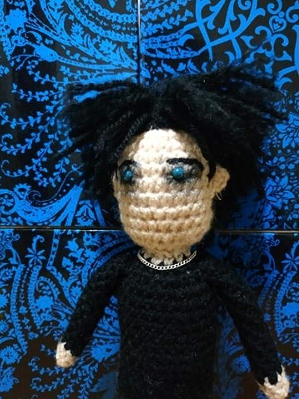 Robert Smith The Cure Crochet Amigurumi doll