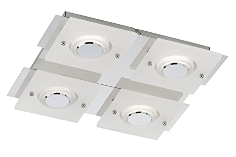Briloner Leuchten Led Wandleuchte Deckenleuchte Wandlampe 4 X Led
