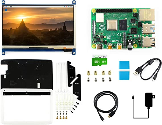 7inch Capacitive Touch LCD Display Kit,Includes PI4 B-4GB,LCD Black/White Case,16GB Micro SD Card,Micro SD Card Reader,HDMI Cable,Power Adapter. Raspberry Pi 4 Model B 4GB RAM.: Amazon.es: Electrónica