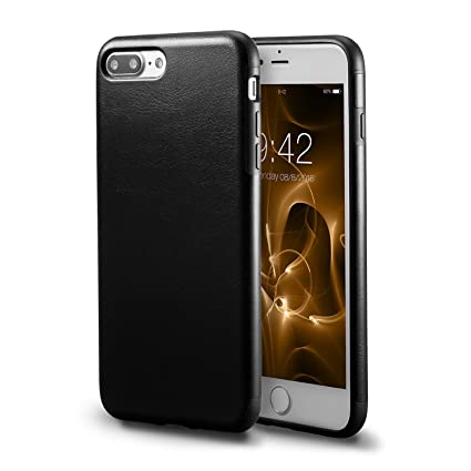 apple iphone 7 black leather case