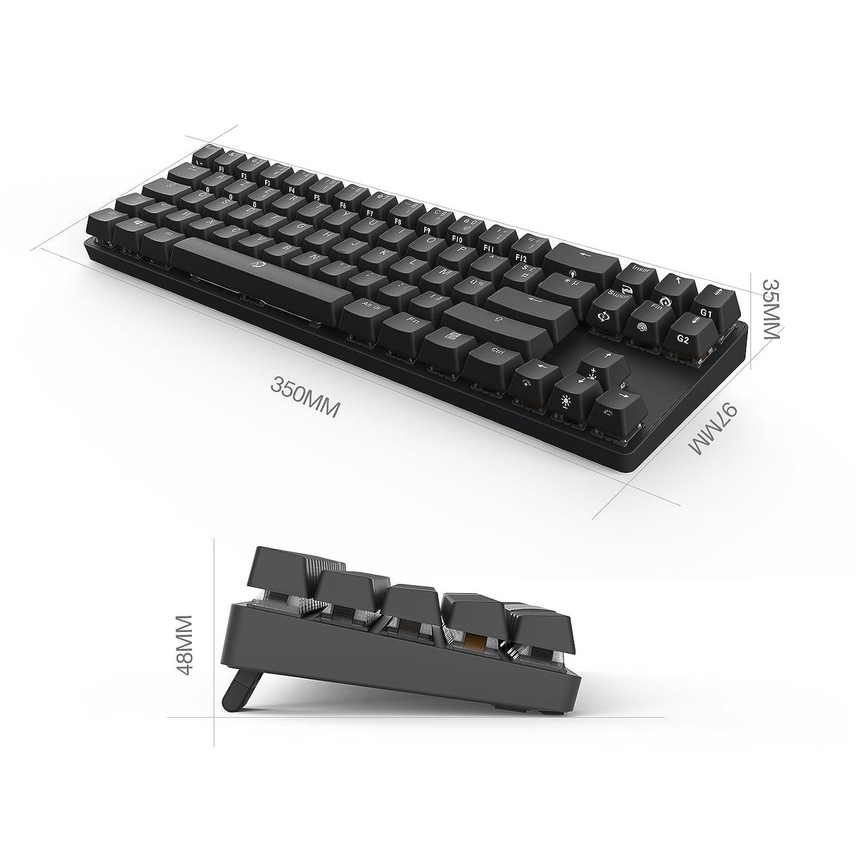 DREVO Calibur 72 clave de juego mecánico teclado RGB LED retroiluminada Tenkeyless inalámbrico Bluetooth 4.0 -FR Layout (Switch Marrón, Negro): Amazon.es: ...