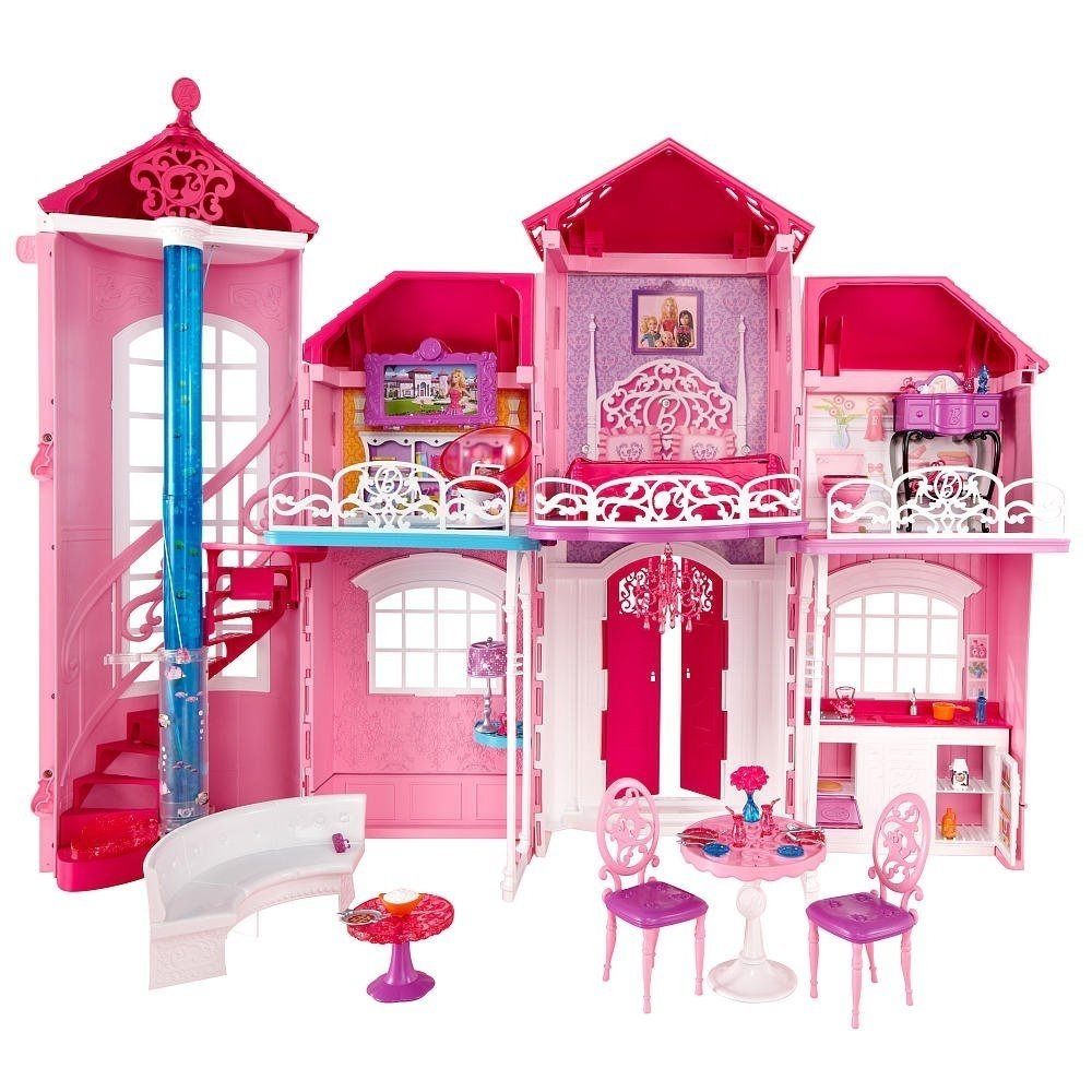 Barbie and friends at walmart barbie dreamhouse - Casa de barbie ...