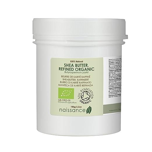 8 opinioni per Naissance Burro di Karitè Raffinato Certificato Biologico Naturale al 100%- 100g