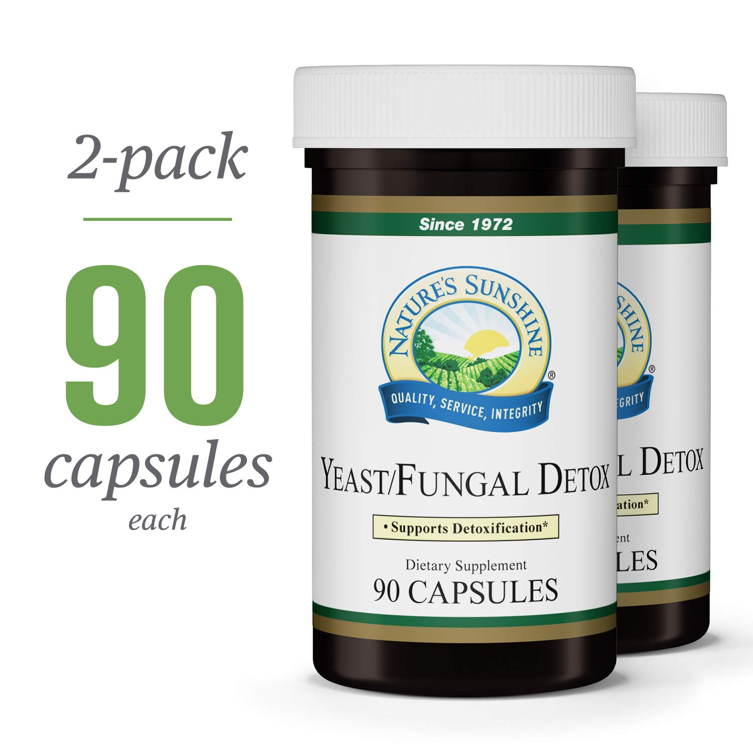 Nature s Sunshine Yeast Fungal Detox, 90 Capsules, 2 Pack Yeast Detox Supplement Provides Candida Cleanse and Promotes Healthy Balance of Microflora