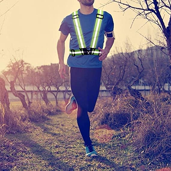 Walking Hiking and Cycling Yizhet Reflective Cross Strap Belt Safety Vest Gear For All Manner Of Outdoor Activities Including Running