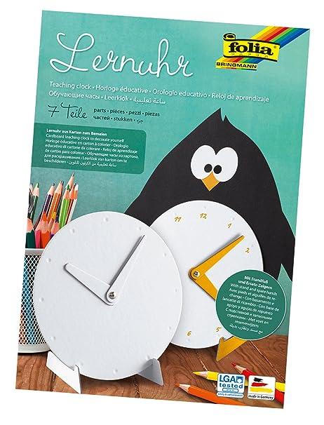 Folia 2300 – Reloj de Aprendizaje de cartón para Pintar