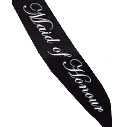 maid of honor sash black maid of honour sash bachelorette party black sash
