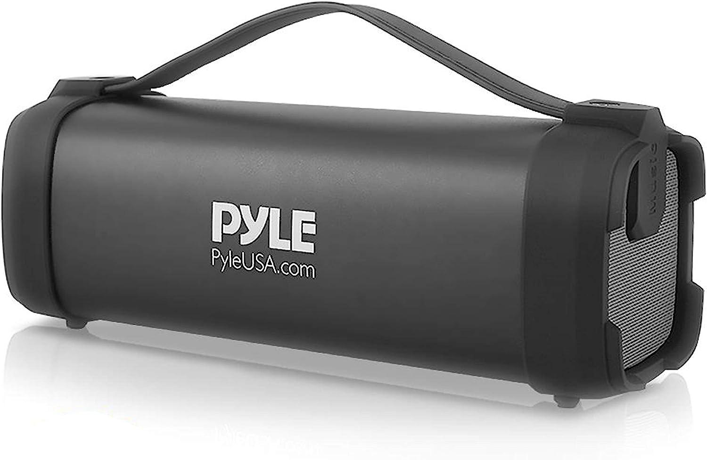 Pyle PBMSQG5 - Altavoz inalámbrico portátil con Bluetooth, 100 W, con batería recargable integrada, conector de entrada AUX de 3,5 mm, radio FM, MP3 y ...