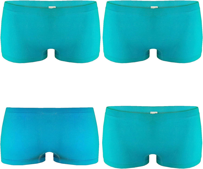Pacco da 4 Culotte Shorts Intimo Fitness Sport Hot Pant 6808 L/&K-II Pantaloncini Donna