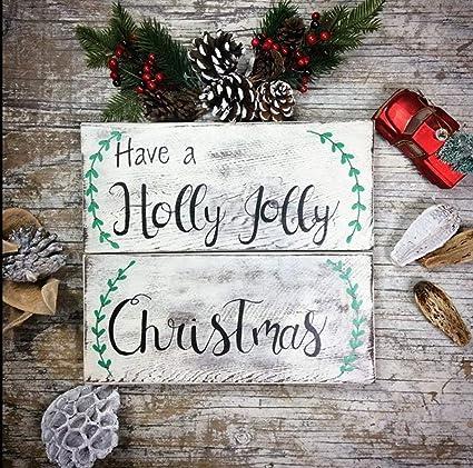 Have A Holly Jolly Christmas Lyrics.Amazon Com Marthafox Holly Jolly Christmas Sign Have A