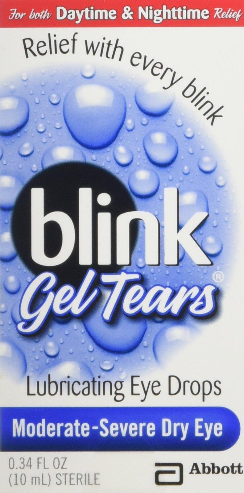 Blink Gel Tears, Lubricating Eye Drops, Moderate-Severe Dry Eye, 0.34 oz ( Pack of 3 )